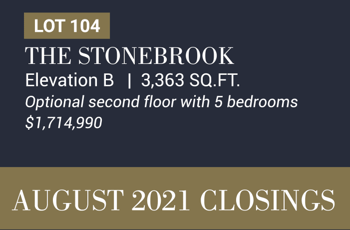 The Stonebrook Elevation B   3,363 SQ.FT. Optional second floor with 5 bedrooms