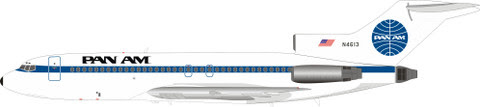IF721PA1219 | InFlight200 1:200 | Boeing 727-100 Pan Am N4613 (with stand) | is due: December 2019