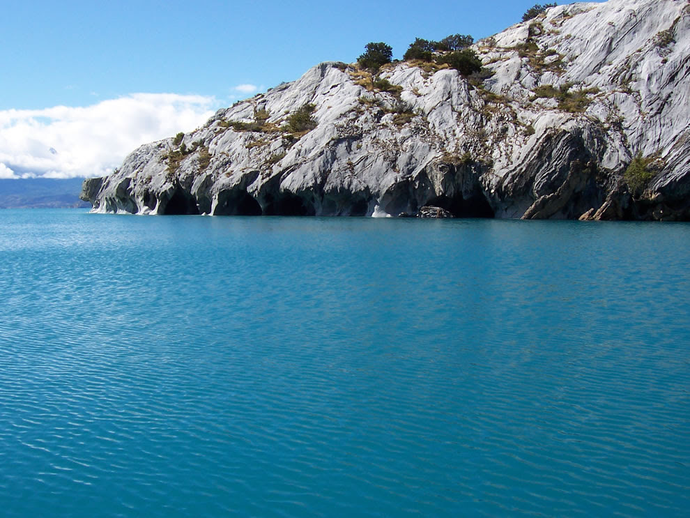 View of the lake where it find the marmol caverns, Aysen region-Chile