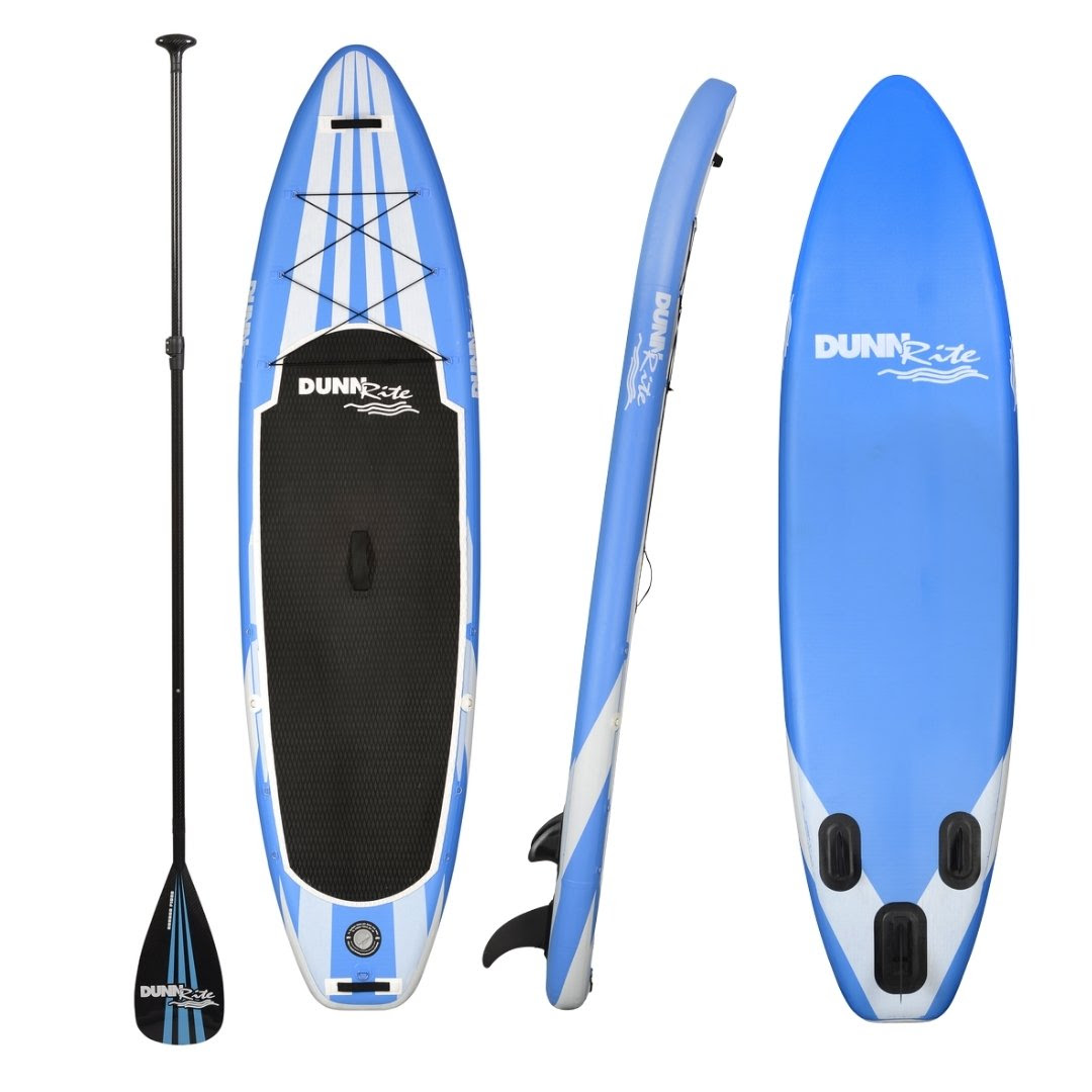 inflatable paddleboard - blue and white