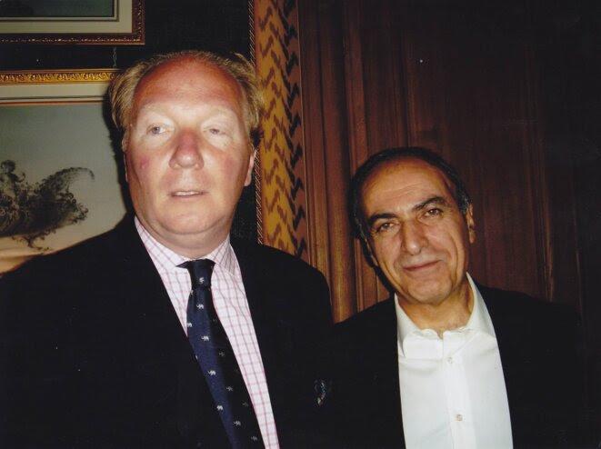 Birce Hortefeux et Ziad Takieddine, en 2005, au               domicile parisien de l'intermédiaire. © dr