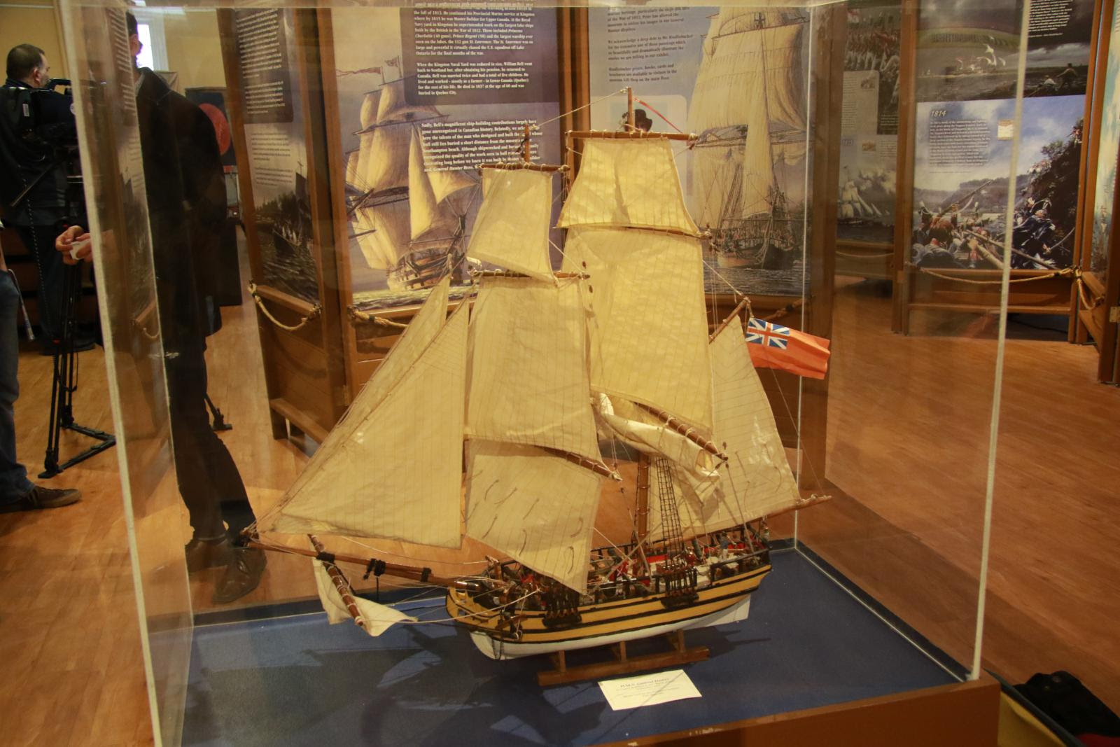 High-tech exhibit brings War of 1812 brig to life