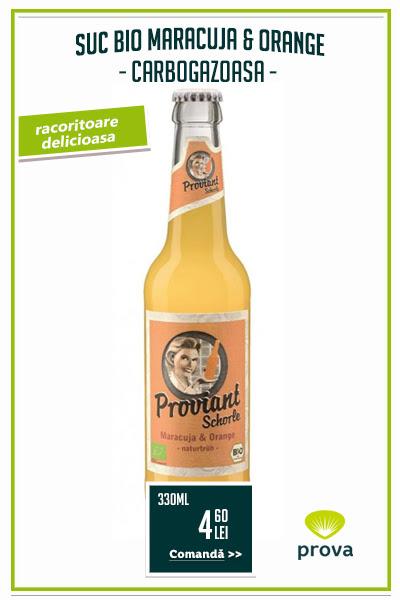 Bautura racoritoare bio Maracuja & Orange, 330ml - Provian