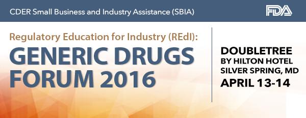 REdI Generic Drugs Forum 2015
