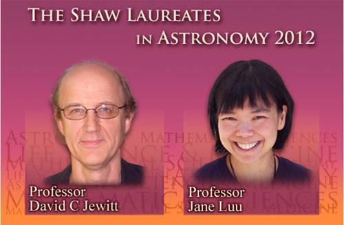 Nobel Thiên văn học, Thiên văn học, Nobel thế giới, Nobel Phương Đông, Lưu Lệ Hằng, Jane X. Luu