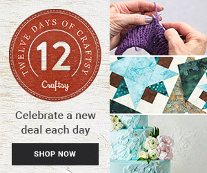 This Friday and Saturday, save on fantastic fabric and yarn from the Craftsy Flash Sale !