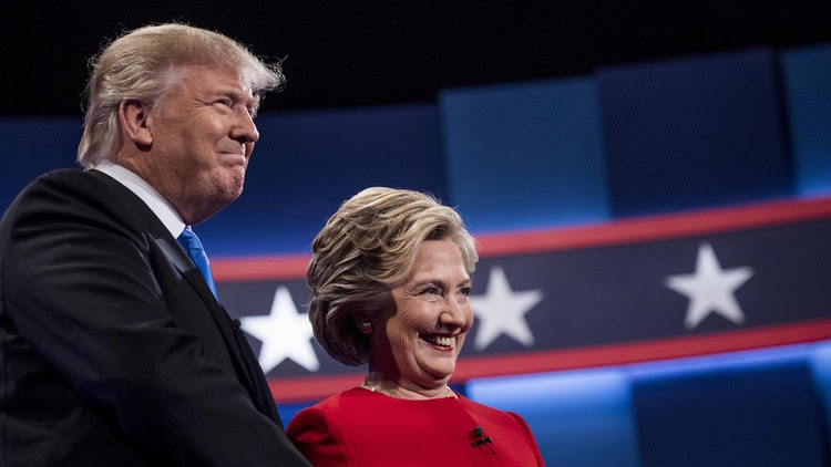 Hillary Clinton and Donald Trump meet for their first debate at Hofstra University in Hempstead, New York. (Photo by Melina Mara/The Washington Post)</p>