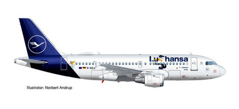 570985   Herpa Wings 1:200 1:200   Airbus A319 Lufthansa D-AILU LU   is due: September 2020