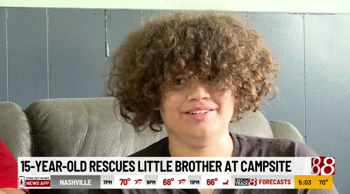 A kid being interviewed on the news