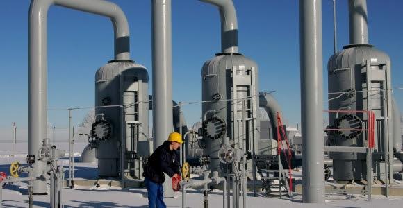Una planta receptora de gas natural ruso. Foto: EFE