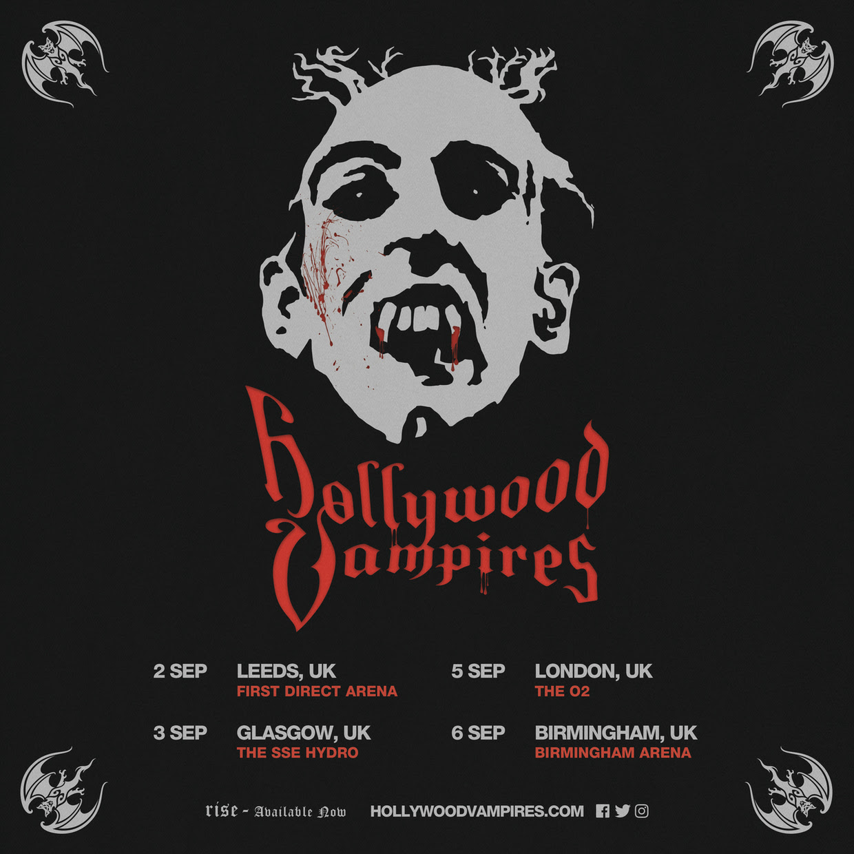Hollywood Vampires Summer UK Tour