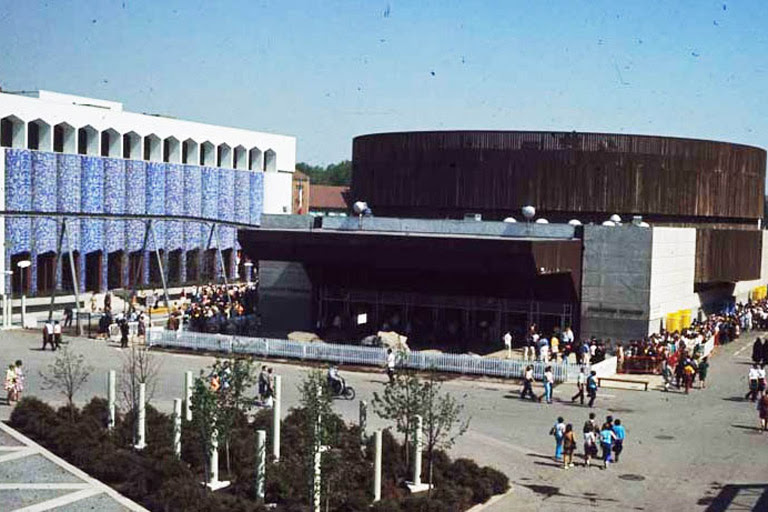 A photo of a pavilion from Expo 67.