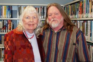 Norma West Linder and James Deahl travelling together on their literary journey.