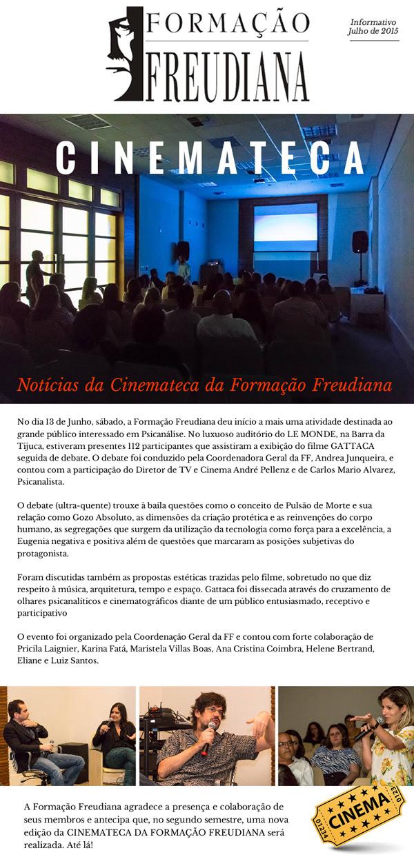 Notícias sobre a Cinemateca da Formação Freudiana –Informativo Formação Freudiana  - habilite as imagens para ver