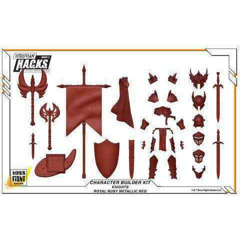 Image of Character Builder Kit - Knights - Royal Ruby Red