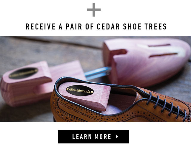 Receive a pair cedar shoe trees.