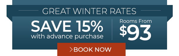 SAVE 15% AT DEFIANCE HOUSE LODGE WHEN YOU BOOK EARLY.