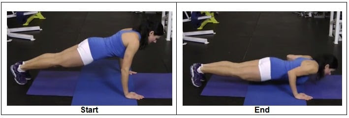 T1 RIGHT WAY to do a Bodyweight Push Up (Side View)