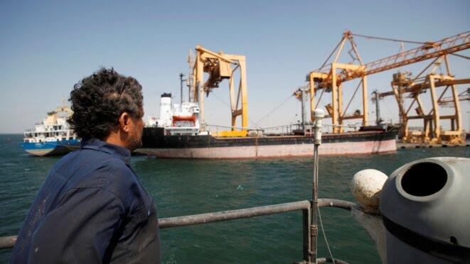 Le port d'Hodeida au Yémen, avec ses grues endommagées. © Reuters