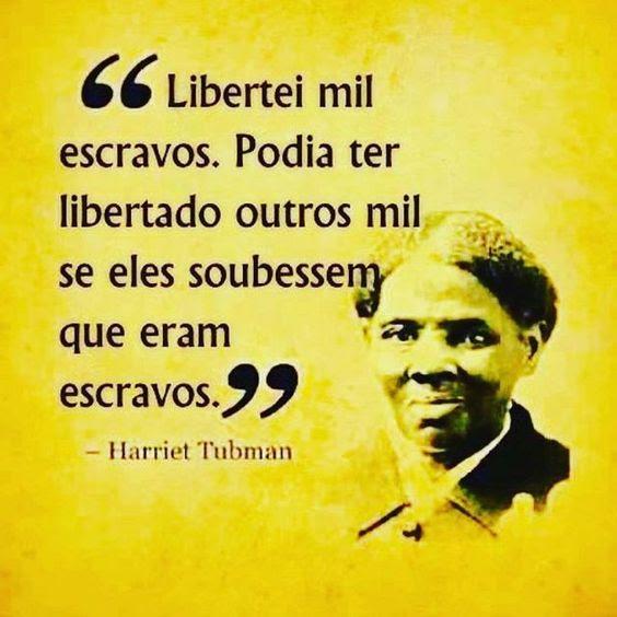 Pesquisei a história de Harriet Tubman, ela foi um exemplo de determinação e coragem.   ____  #repost do ig @designdevida (Aimportância da conscientização! Conhecimento e autoconhecimento é libertação!)