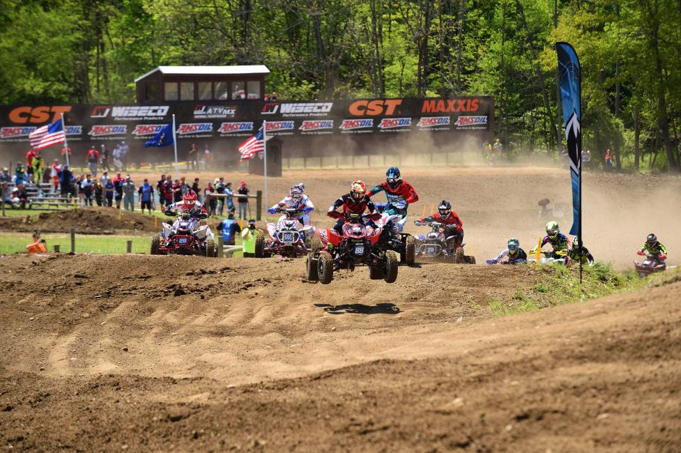 Joel Hetrick was able to grab the Moto 1 and 2 holeshot awards at Ironman Raceway.