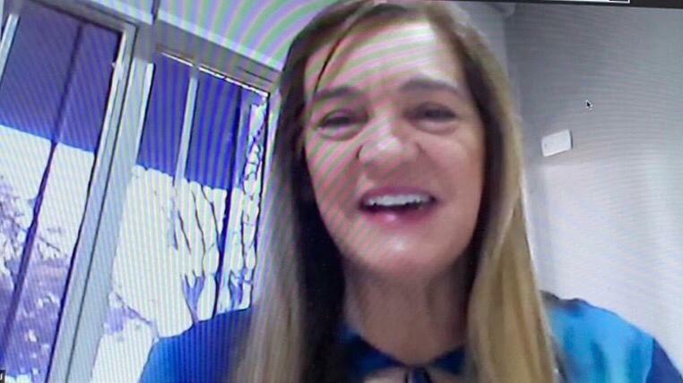 Videoconferência China Brasil - diretora da FEN/UFG, Claci Rosso