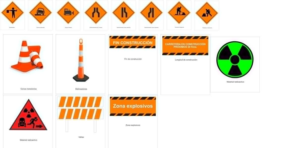 Señales de tránsito transitorias