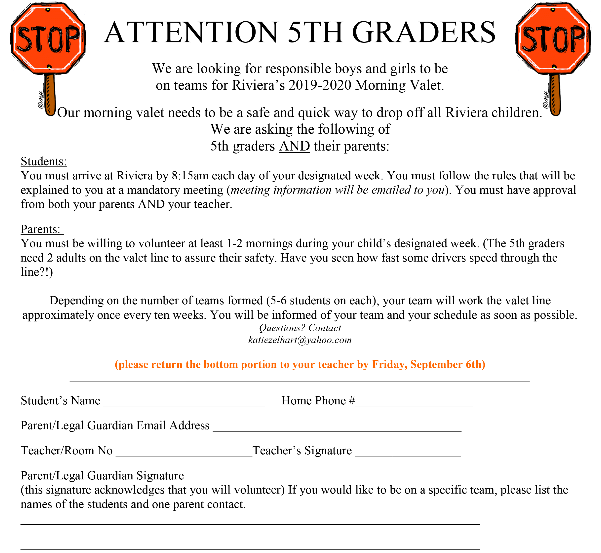 Attention 5th Graders