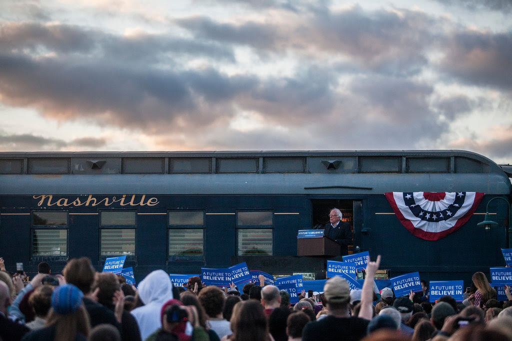Senator Bernie Sanders of Vermont at a stop in Bowling Green, Ky., on Saturday.