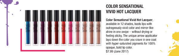 Color Sensational Vivid Hot Laquer