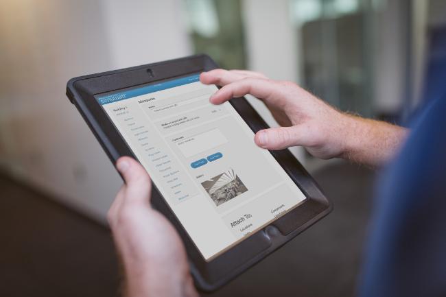 simuwatt application running on a tablet