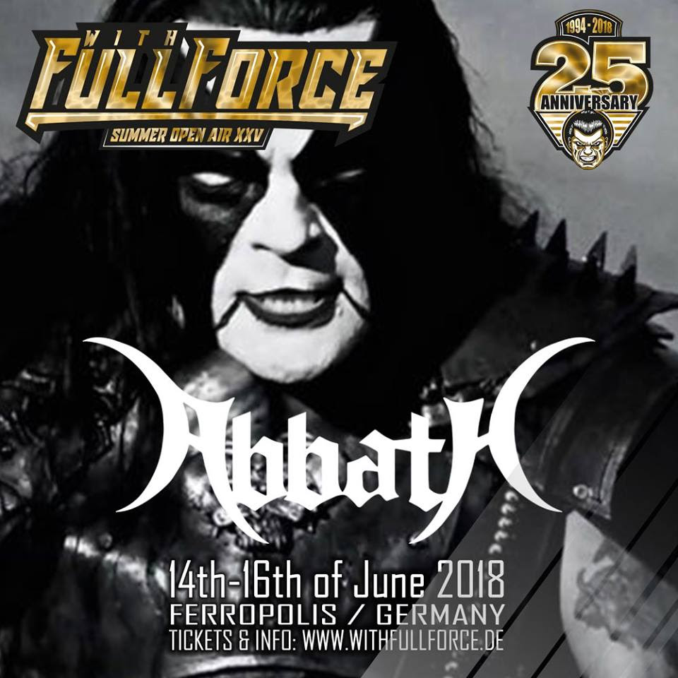 ABBATH flyer With Full Force 2018