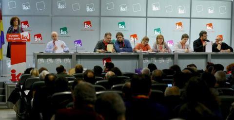 La dirigente de Izquierda Unida Libertad Mártinez IU interviene en la reunión del Consejo Político Regional de IU de Madrid.EFE