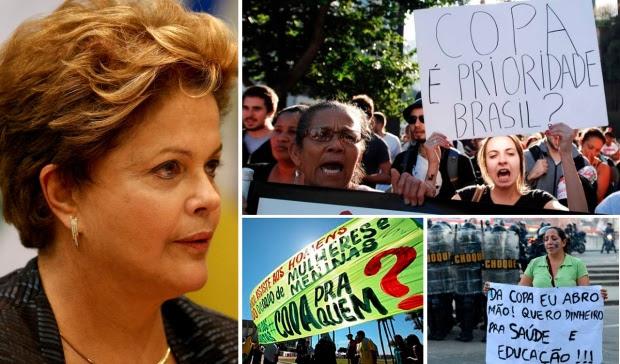 """MOVIMENTO """"NÃO VAI TER COPA"""" PROTESTA CONTRA O EVENTO DA FIFA NO BRASIL"""
