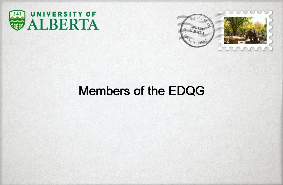 Envelope addressed to Members of the EDQG