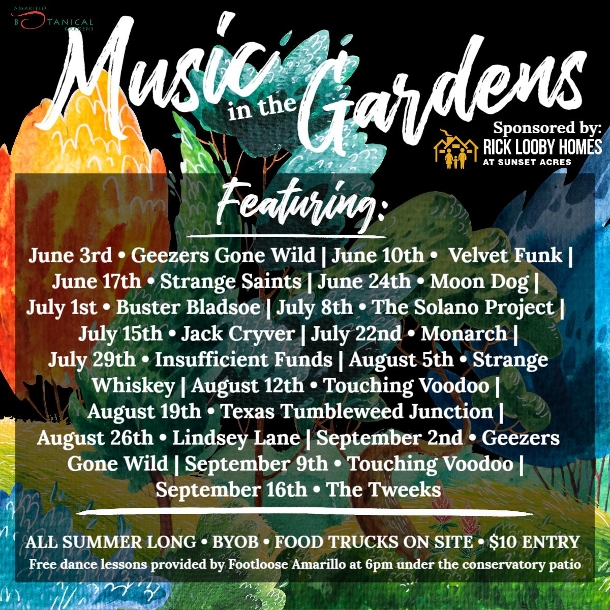 Music In The Gardens @ Amarillo Botanical Gardens