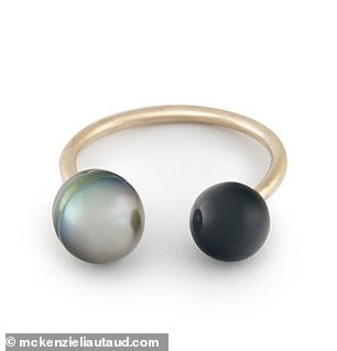 Black Onyx + Black Pearl Ring, $595; mckenzieliautaud.com
