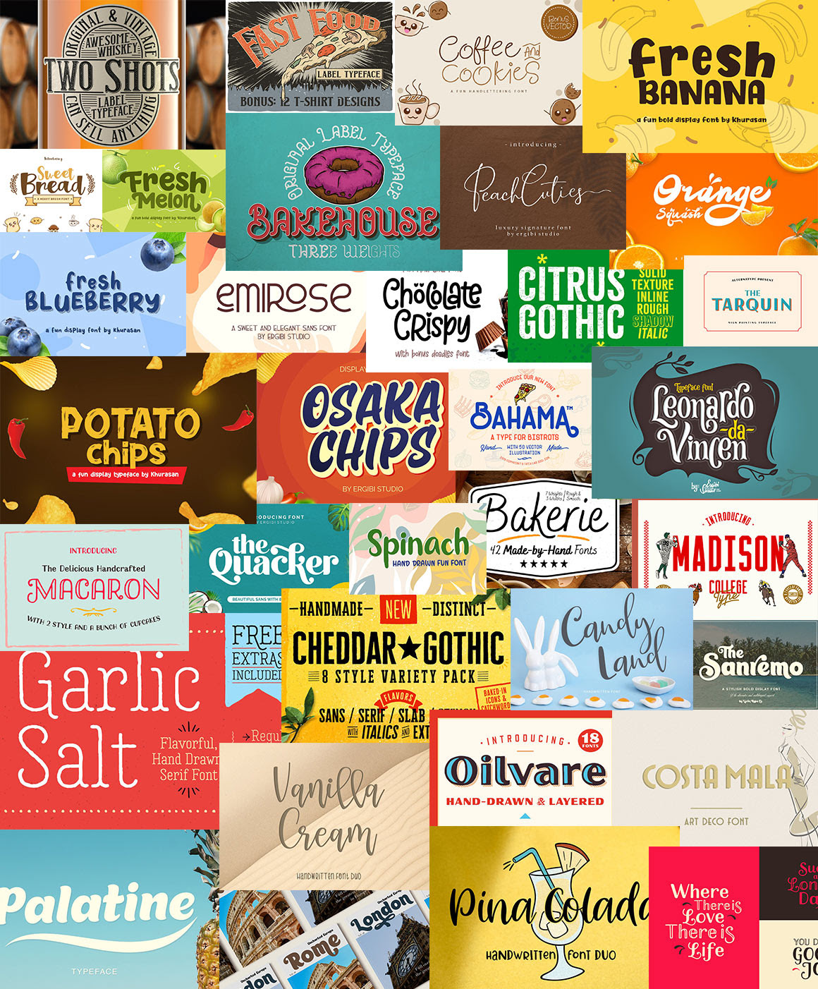 The Delicious Food Typography Bundle Sneakpeek