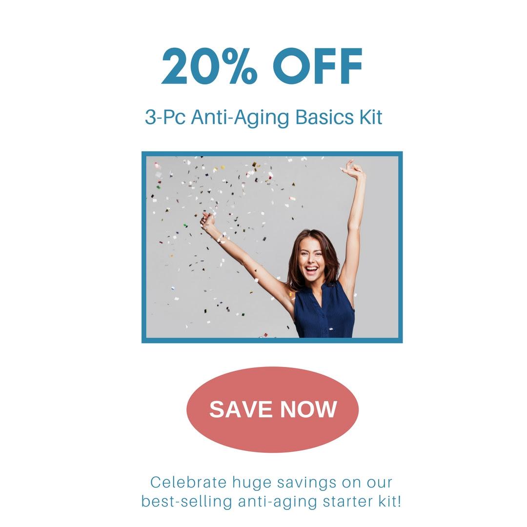20% OFF 3-Piece Anti-Aging Basics Kit Skincare Serum