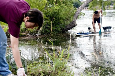 Volunteer to clean Lady Bird Lake on Saturday.