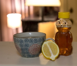 Honey and lemon water. Photo taken by Anna Scordato