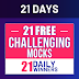 21 Days | 21 Free All India Mocks Challenge- Attempt SSC JE (Civil) Mock Now