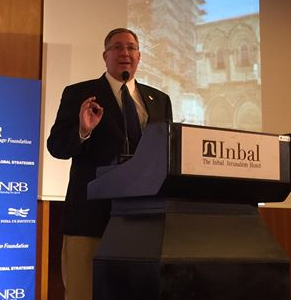 "Addressing the Jerusalem Leaders Summit on the threat of ""Apocalyptic Islam."""