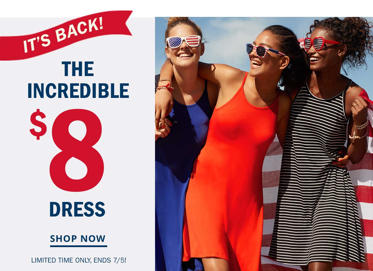 IT'S BACK! | THE INCREDIBLE $8 DRESS | SHOP NOW