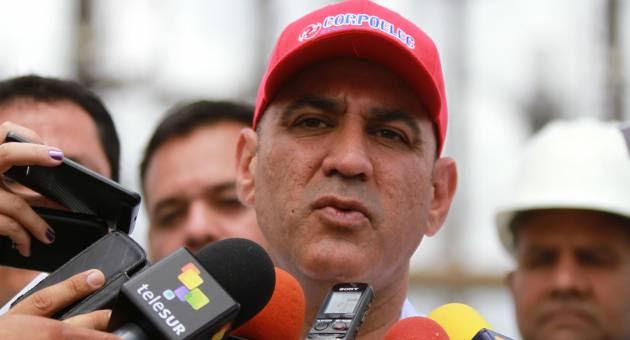 El ministro de Energía Eléctrica, Jesse Chacón