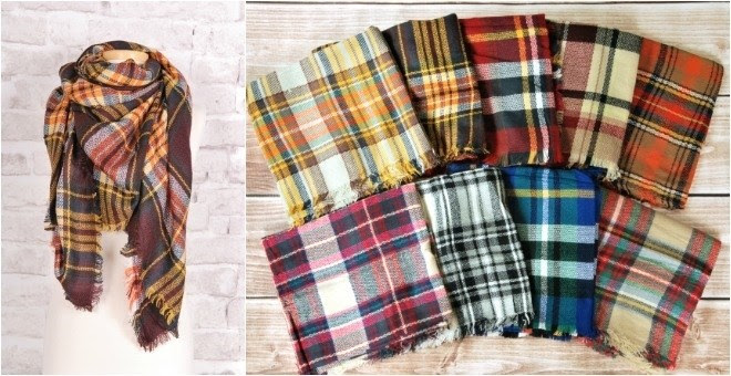 Plaid Blanket Scarves + More!