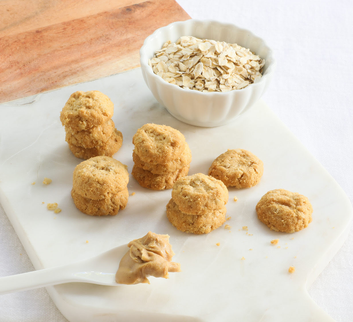Mini Peanut Butter Oatmeal Cookies