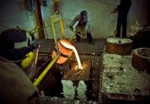proceso exordio colada bronce