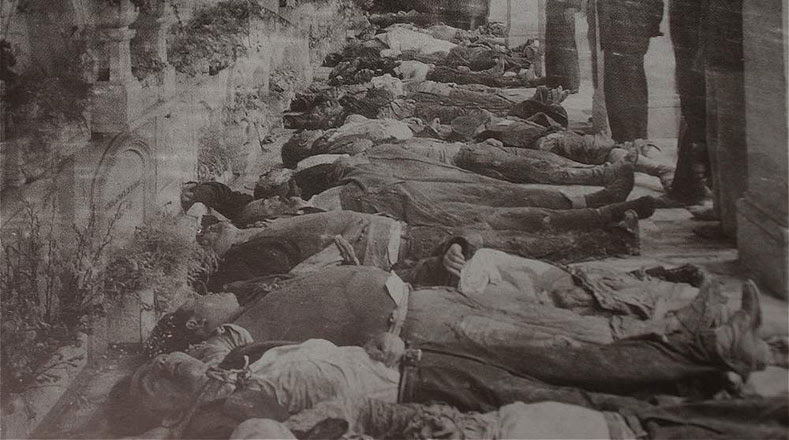 Más de mil cadáveres sin identificar fueron llevados al Cementerio Central y a muchos los enterraron en fosas comunes.
