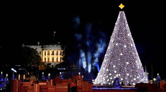 National Christmas Tree Lighting event at Presidents Park